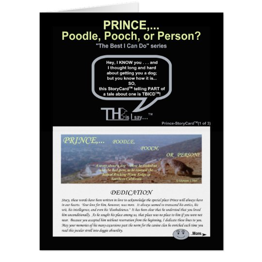 Pt. 1 Prince... Poodle, Pooch, or Person(1of3) Card