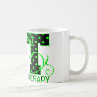 pt 2 black and green polka dots coffee mug