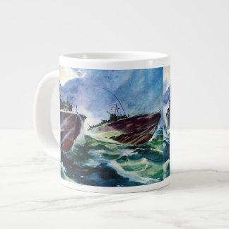 PT Boat Hunters of the sea WW2 John F. Kennedy Large Coffee Mug