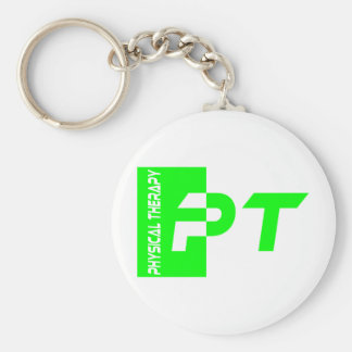 pt lime basic round button key ring