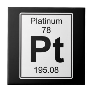 Pt - Platinum Small Square Tile