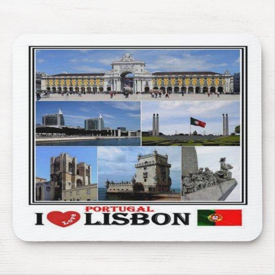 PT Portugal - Lisbon - I Love  Mosaic - Mouse Pad