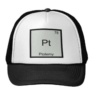 Pt - Ptolemy Funny Chemistry Element Symbol Tee Mesh Hats