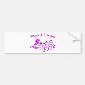 pt rose scroll purple bumper sticker