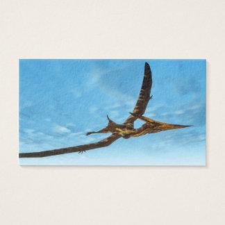 Pteranodon bird flying - 3D render Business Card