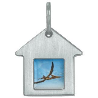 Pteranodon bird flying - 3D render Pet Name Tag