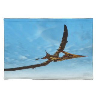 Pteranodon bird flying - 3D render Placemat