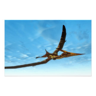 Pteranodon bird flying - 3D render Stationery