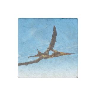Pteranodon bird flying - 3D render Stone Magnet