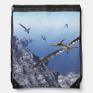 Pteranodon birds - 3D render Drawstring Bag