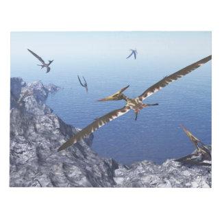 Pteranodon birds - 3D render Notepad