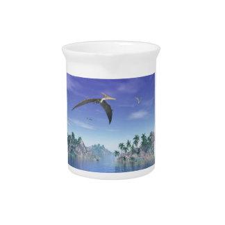Pteranodon birds  - 3D render Pitcher