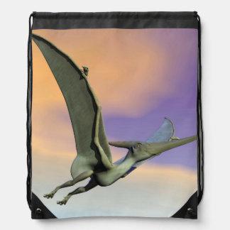 Pteranodon dinosaur flying - 3D render Drawstring Bag