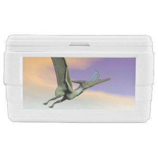 Pteranodon dinosaur flying - 3D render Ice Chest