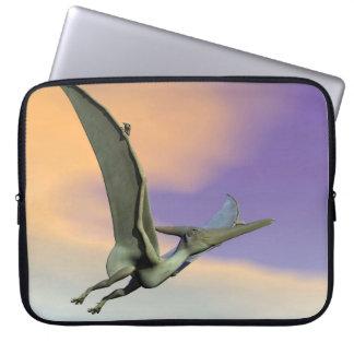 Pteranodon dinosaur flying - 3D render Laptop Sleeve