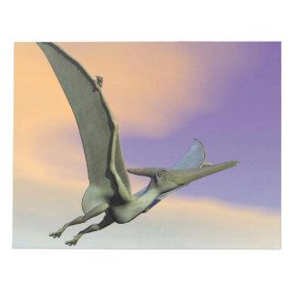 Pteranodon dinosaur flying - 3D render Notepad