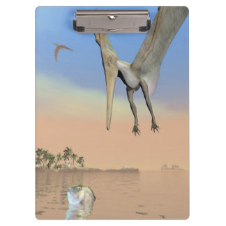 Pteranodon dinosaurs fishing - 3D render Clipboard