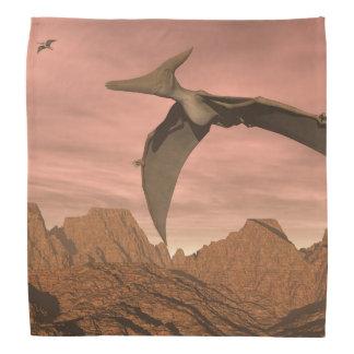 Pteranodon dinosaurs flying - 3D render Bandana