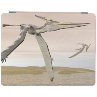 Pteranodon dinosaurs flying - 3D render iPad Cover