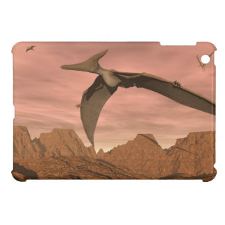 Pteranodon dinosaurs flying - 3D render iPad Mini Cover