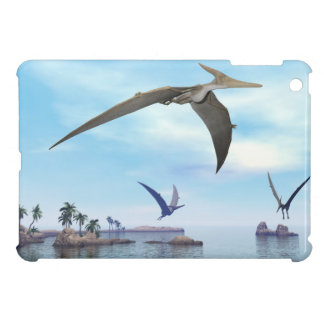 Pteranodon dinosaurs flying - 3D render iPad Mini Cover
