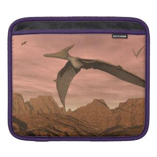 Pteranodon dinosaurs flying - 3D render iPad Sleeve