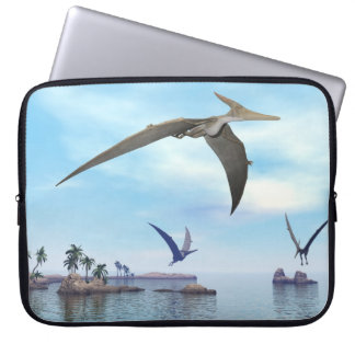 Pteranodon dinosaurs flying - 3D render Laptop Sleeve