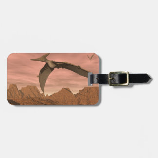 Pteranodon dinosaurs flying - 3D render Luggage Tag