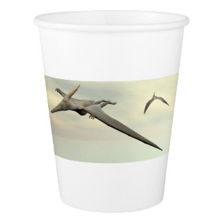 Pteranodon dinosaurs flying - 3D render Paper Cup