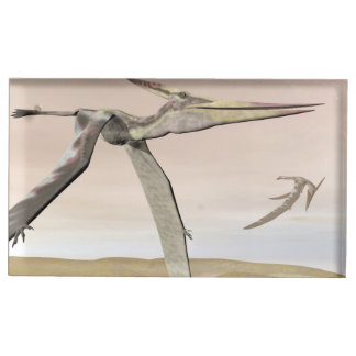 Pteranodon dinosaurs flying - 3D render Table Card Holder