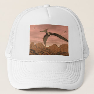 Pteranodon dinosaurs flying - 3D render Trucker Hat