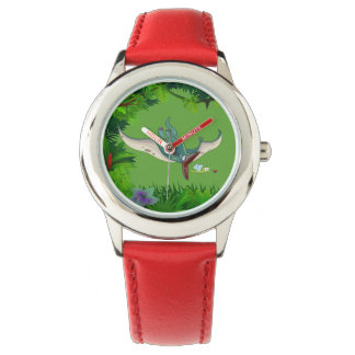 Pteranodon eating a dragonfly eating a ladybug watch