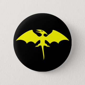 Pterodactyl Dinosaur Superhero Logo 6 Cm Round Badge