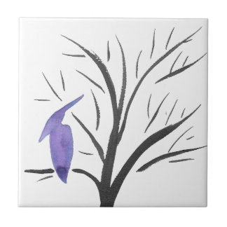 Pterodactyl In A Tree Ceramic Tile