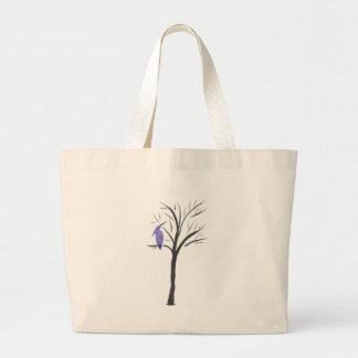 Pterodactyl In A Tree Large Tote Bag