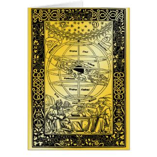 Ptolemy's System by Johanes de Monte Regio 1543 Card