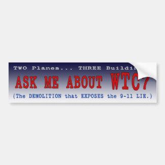 "PTP's ""Ask Me About WTC7"" Bumper Sticker - Style A"