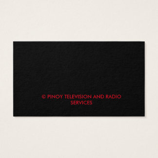 PTRS TV BUSSNIESS CARD