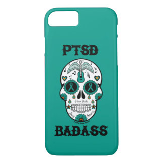 PTSD Badass sugar skull iPhone 8/7 Case