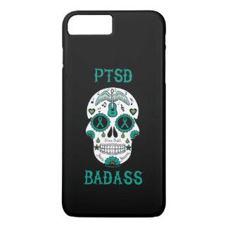 PTSD Badass sugar skull iPhone 8 Plus/7 Plus Case