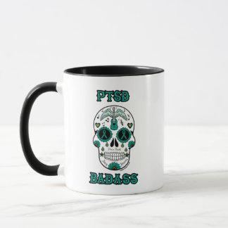 PTSD Badass sugar skull Mug
