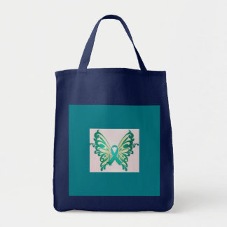 PTSD butterfly grocery tote