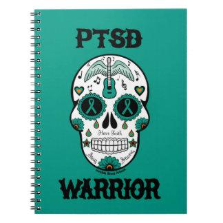 PTSD WARRIOR sugar skull Notebooks