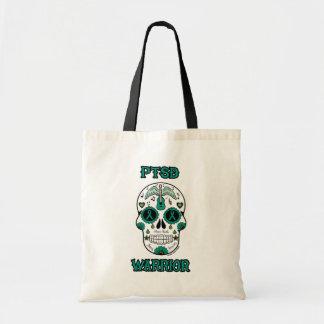 PTSD WARRIOR sugar skull Tote Bag