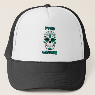 PTSD WARRIOR sugar skull Trucker Hat