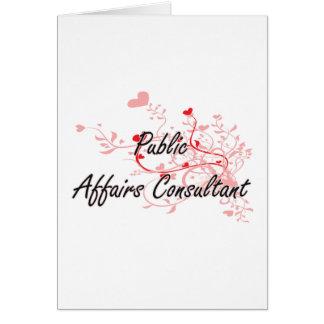Public Affairs Consultant Artistic Job Design with Greeting Card