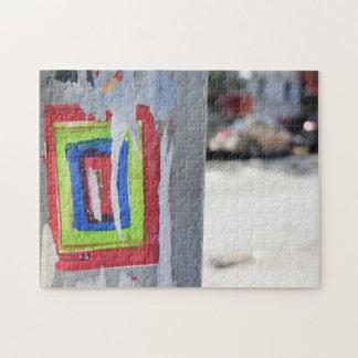 Public Art New York City Telephone Pole Graffiti Jigsaw Puzzle