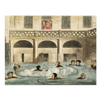 Public Bathing at Bath, or Stewing Alive, print pu Postcard