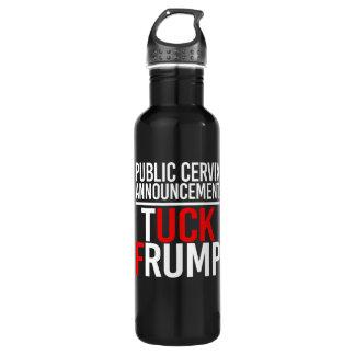 PUBLIC CERVIX ANNOUNCEMENT - TUCK FRUMP - - white  710 Ml Water Bottle