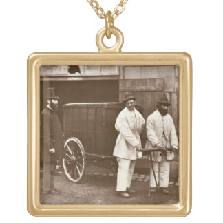 Public Disinfectors, from 'Street Life in London', Gold Plated Necklace